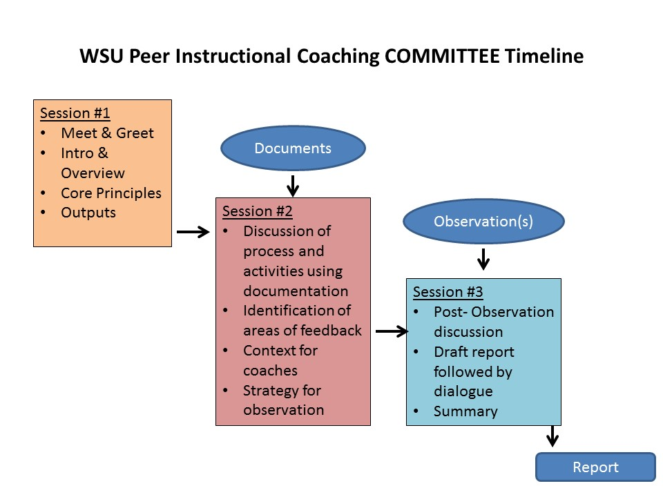 Peer Observation Committee Timeline of events
