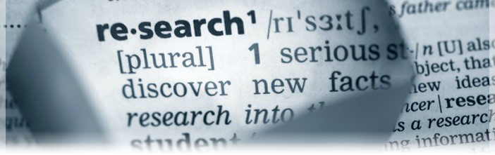 Dictionary image of the word Research