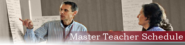Master Teaching Schedule banner